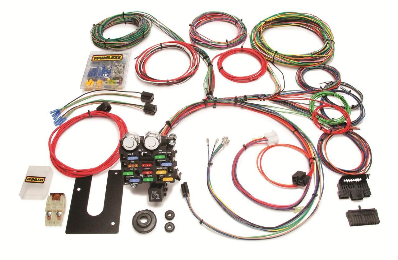 PAINLESS 10101 21 Circuit Classic Customizable Chassis Harness GM Keyed  Column