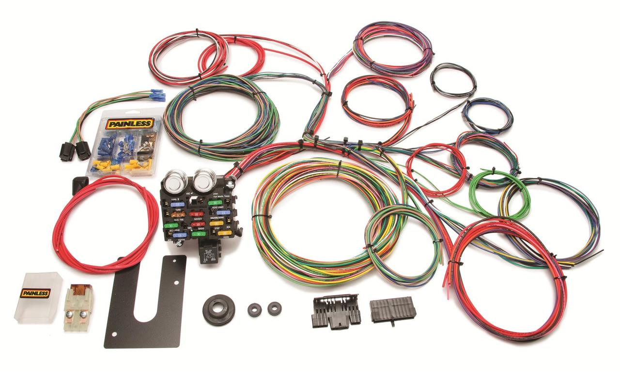 PAINLESS 10102 21 Circuit Classic Customizable Chassis Harness Non-GM Keyed  Column
