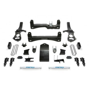 Fabtech K1132 Basic Lift System w/Shocks 6 in. Lift Incl. Front Shock Extensions And Rear Performance Shocks Basic Lift Syste