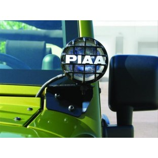 PIAA 30110 Flood Light Pillar Mount Bracket Kit For Use At Windshield Bracket Location