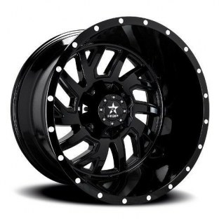 RBP GLOCK Gloss Black Wheel with Painted Finish (20 x 10. Inches /8 x 165 mm, 12 mm Offset)