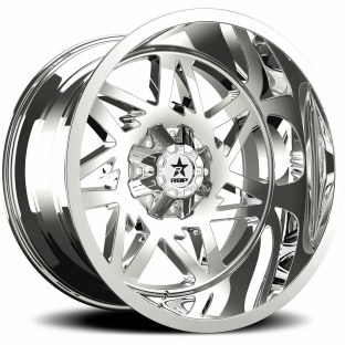 "2014 Chevrolet Silverado 3500 HD 2014 Chevrolet Silverado 3500 HD RBP 71R AVENGER Chrome Wheel with Chrome Finish (22x12""/8x180mm, -44mm Offset)"