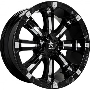 2006 Chevrolet Avalanche 2500 2006 Chevrolet Avalanche 2500 RBP 94R Black with Chrome Inserts Wheel with Painted Finish (18 x 10. Inches /8 x 165 mm, 10 mm Offset)