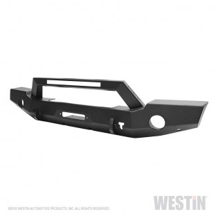 WESTIN 59-80125 Textured Black Bumper (WJ2 Full Width Front w/LED Light Bar Mount for Jeep Wrangler JL Unlimited (Excl 2018 J